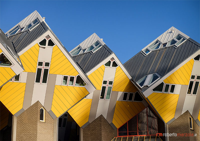 Cube houses in Rotterdam, The Netherlands.